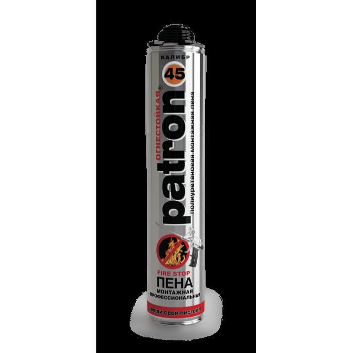Пена монтажная профессиональная PATRON калибр 45 огнестойкая, 750 мл