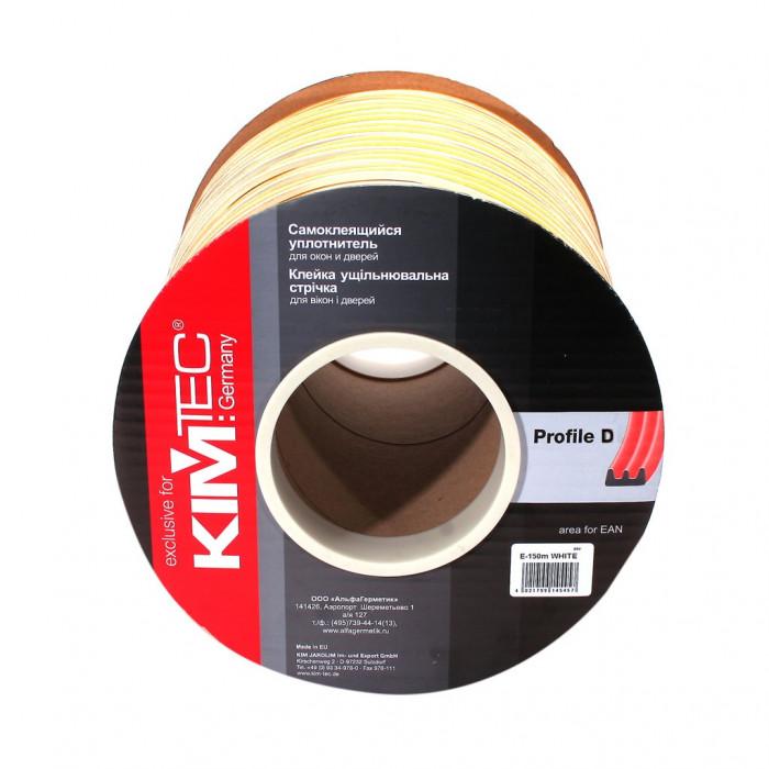 Уплотнитель «KIM TEC», D-профиль, белый, 100 м, 6 шт, арт.04-14-03